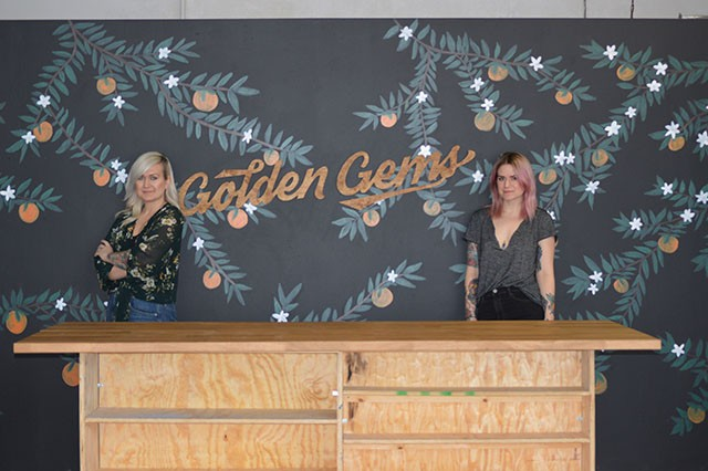 Susan Logsdon (left) and Amanda Helman (right) are the owners of Golden Gems, the newest store front on Cherokee Street. - MEGAN ANTHONY