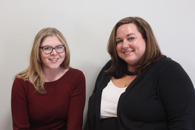 Megan Cobb, left, and Erika Darrough. - SARAH FENSKE