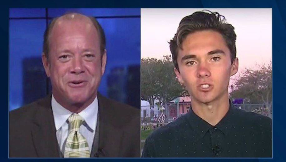 Jamie Allman (left) and David Hogg. - SCREENSHOT VIA YOUTUBE