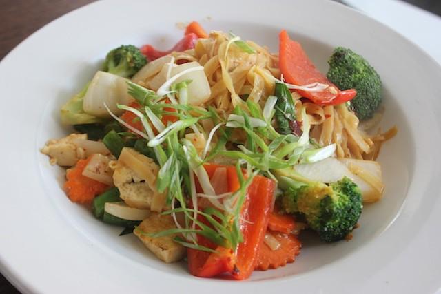 Pad kee mao with tofu. - SARAH FENSKE