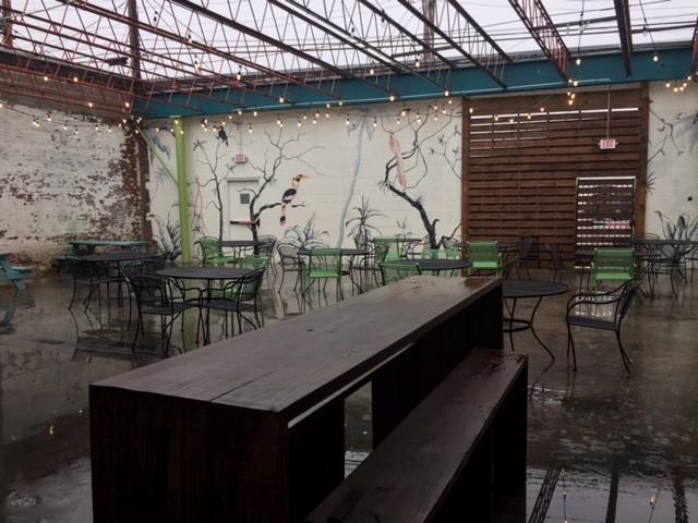 The patio has a distinctly New Orleans feel. - SARAH FENSKE