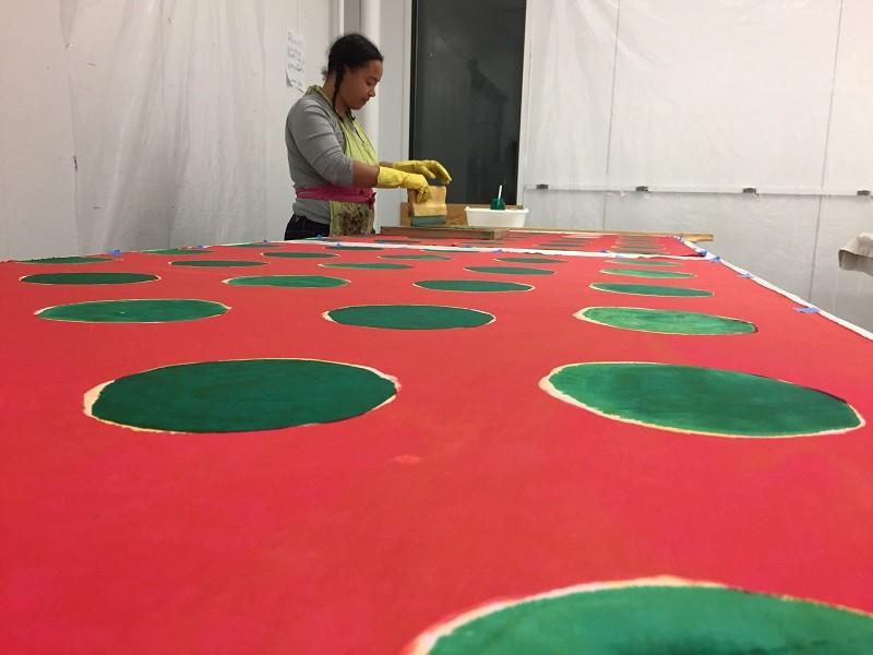 Great Rivers Biennial winner Addoley Dzegede in her studio. - COURTESY OF SAINT LOUIS ART MUSEUM
