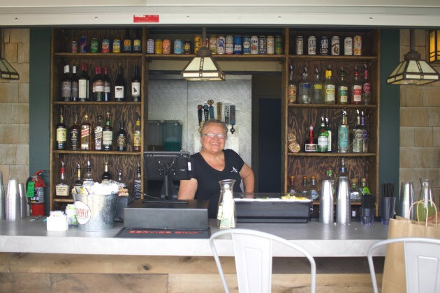 Two brand-new, outdoor bars cater to thirsty patrons. - CHERYL BAEHR