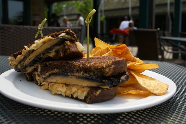 "The ""Roasted Portobello Reuben."" - CHERYL BAEHR"