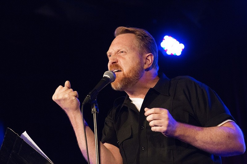 Kevin Allison's Risk! podcast comes to life at Delmar Hall. - MINDY TUCKER