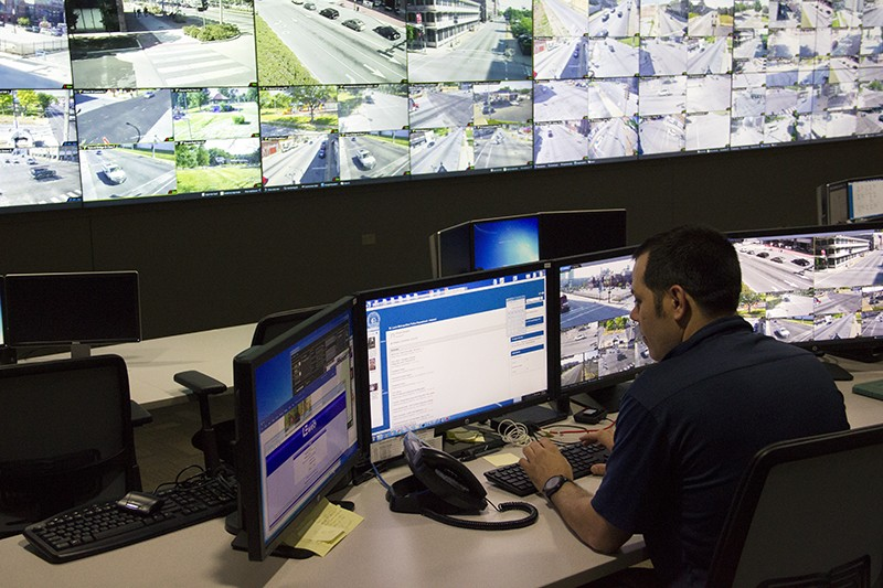 St. Louis police' Real Time Crime Center. All screens, all the time. - DANNY WICENTOWSKI