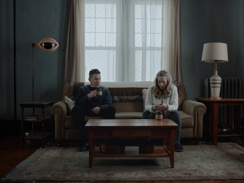 Mary (Amanda Seyfried) is married to an eco-terrorist in First Reformed. - COURTESY OF A24