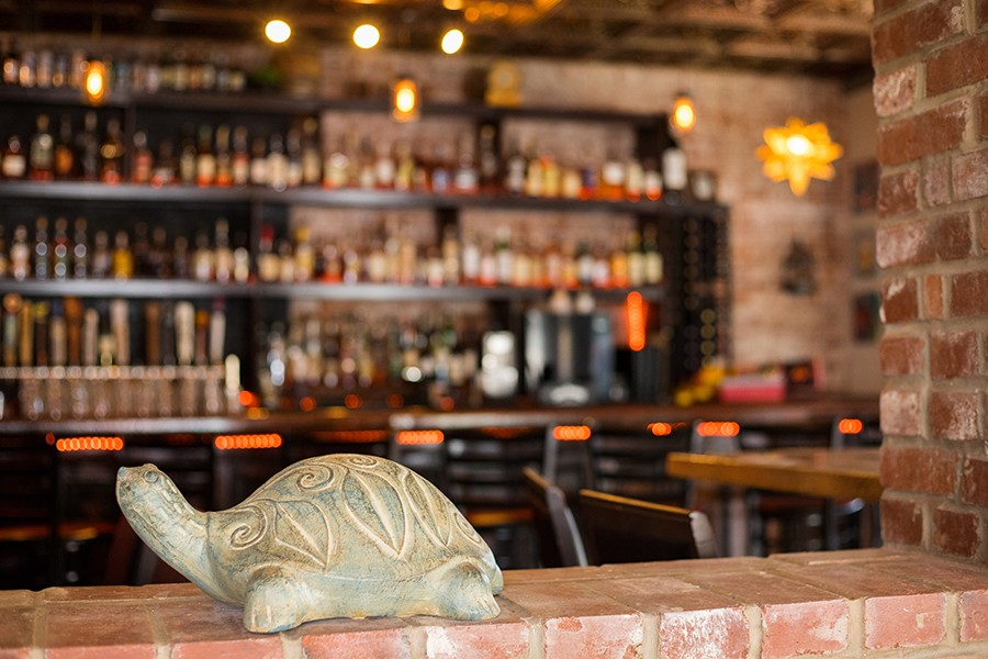 Stone Turtle takes its name from nearby Turtle Playground, with sculptures by Bob Cassilly. - MABEL SUEN