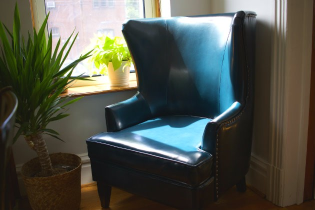 Guests are welcome to tuck into a cozy chair with a cup of Blueprint coffee. - CHERYL BAEHR
