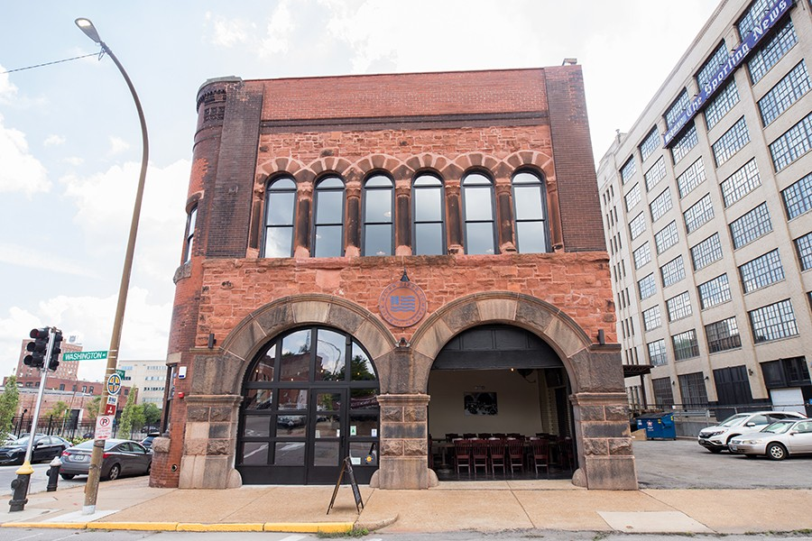 The tap room is located in a former fire station. - MABEL SUEN