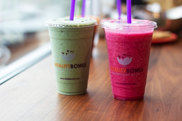 Go Green and The Dragon smoothies - HAYLEY ABSHEAR