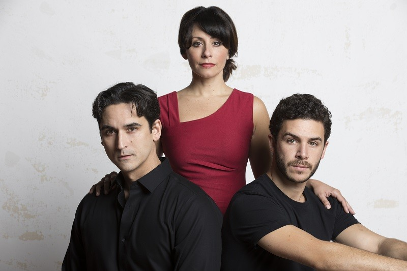 Sean MacLaughlin, Michelle Aravena and Pepe Nufrio star in Evita at the Repertory Theatre St. Louis. - PATRICK LANHAM