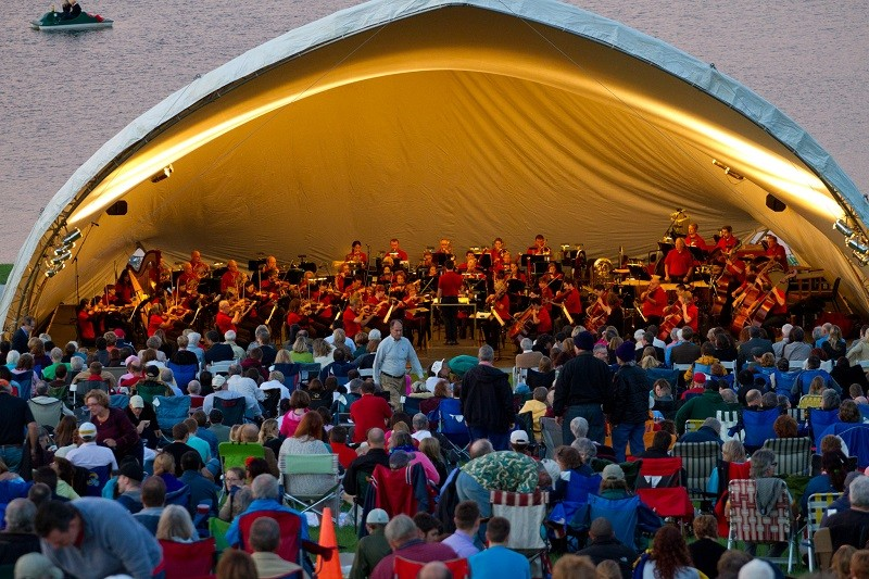 For the 50th year, the St. Louis Symphony previews its new season in Forest Park (weather permitting). - COURTESY OF THE ST.  LOUIS SYMPHONY