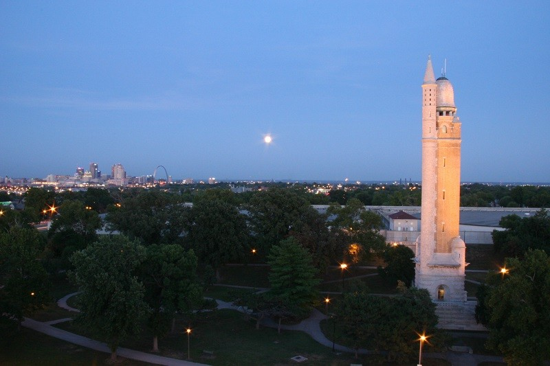 The Compton Hill Water Tower has a pretty great view of the moon and the city, if you can make it to the top. - COURTESY OF THE WATER TOWER FOUNDATION