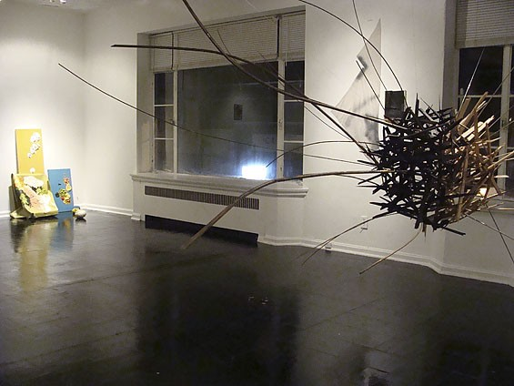 "Installation view of ""Violence"" at Los Caminos."