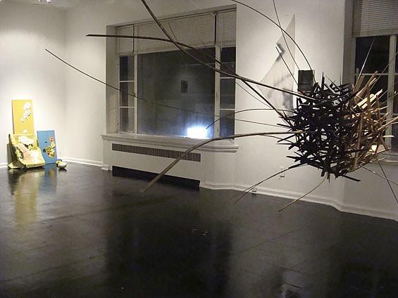 "Installation view of ""Violence"" at Los Caminos."