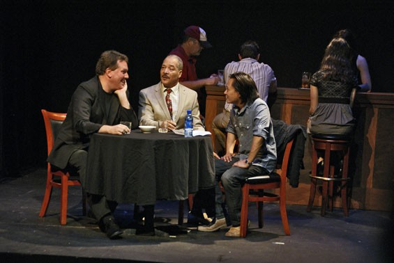 """Christopher Hickey, Robert Mitchell and Alan David in """"The New Testament"""""""