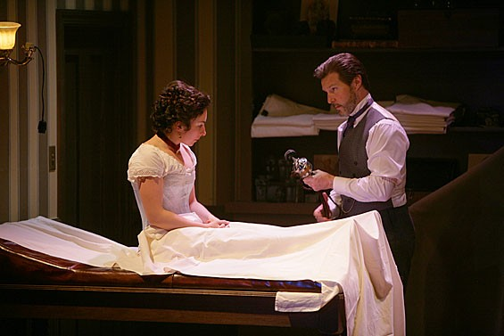 Annie Purcell as Catherine Givings and Ron Bohmer as Dr. Givings in the Rep's In the Next Room or the vibrator play.