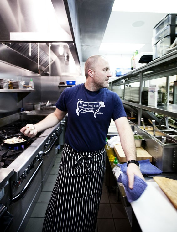 The Block co-owner and co-chef Brian Doherty in the kitchen. See more of Jennifer Silverberg's photos from the block here.