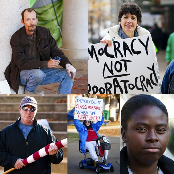 A few of the Occupy St. Louis occupants we profile in this week's RFT. Meet them here.