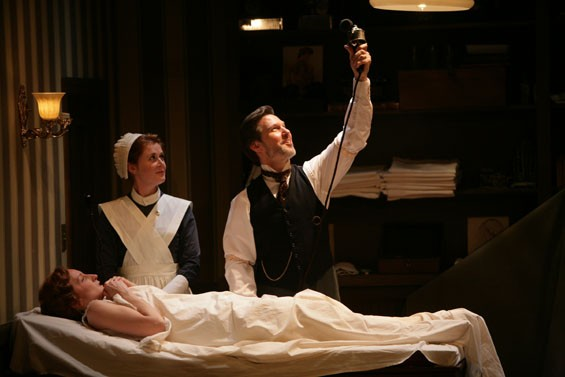 Emily Dorsch, Amy Landon and Ron Bohmer  in In the Next Room or the vibrator play.
