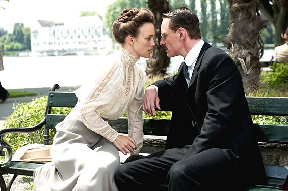 Keira Knightly and Viggo Mortensen in  A Dangerous Method