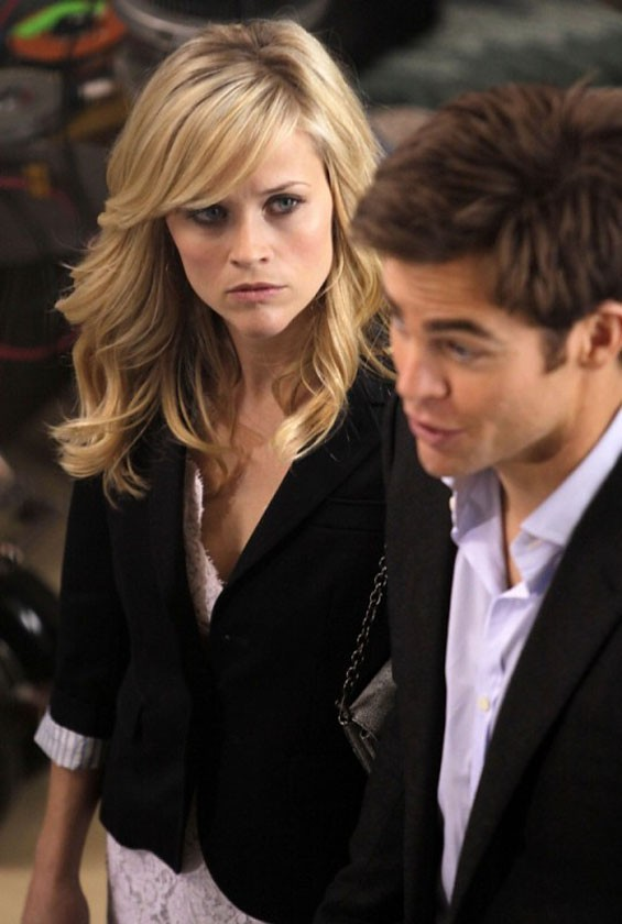 Waving the white flag: Reese Witherspoon and Chris Pine in This Means War.