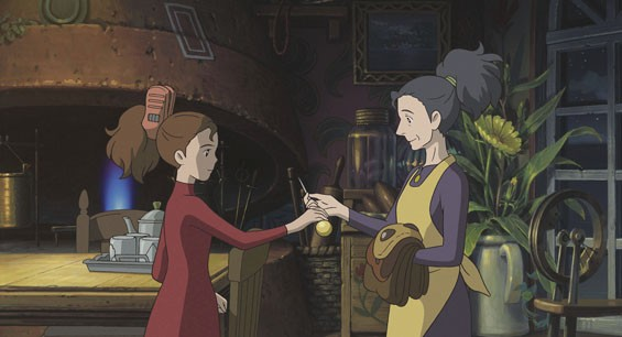 "Arrietty shows her mother, Homily, an amazing object that she has ""borrowed"" while on her first covert mission with her father."