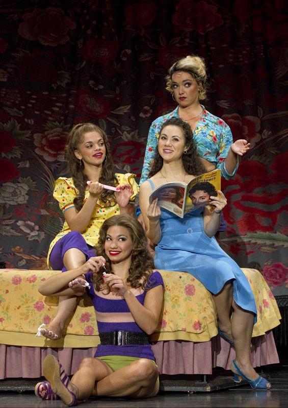 Gizel Jimenez, Kathryn Lin Terza, Evy Ortiz and Lori Ann Ferreri in West Side Story.