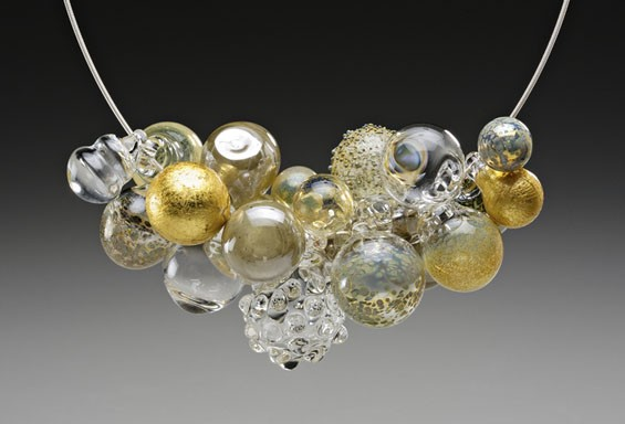 A necklace by Melissa Schmidt, a featured artist at Laumeier's Art Fair.