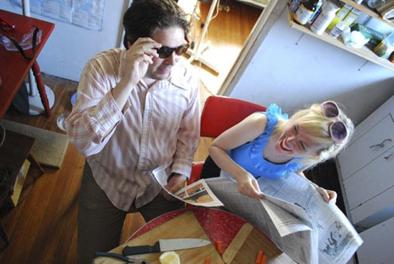 Schwervon!'s Nan Turner and Matt Roth met at a New York antifolk night.