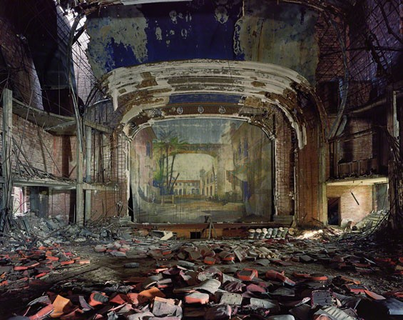 Andrew Moore, American, born 1957; Palace Theater, Gary, Indiana, 2008; chromogenic print; 40 x 50 inches; Collection of Robert Verdi, Courtesy Yancey Richardson Gallery © Andrew Moore