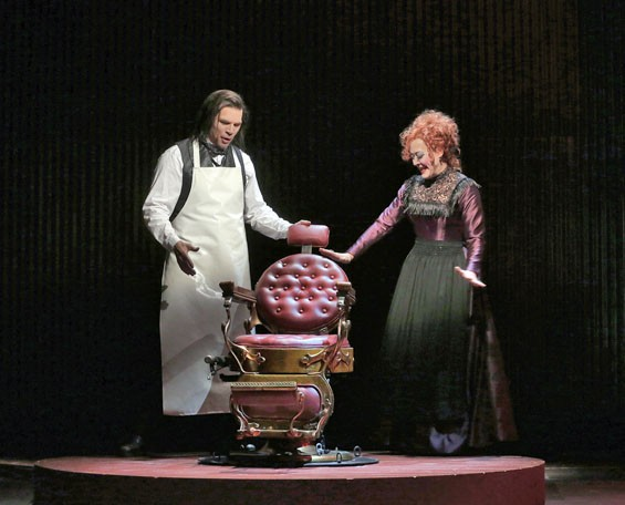 Rod Gilfry and Karen Ziemba in Opera Theatre of Saint Louis's 2012 production of Sweeney Todd.