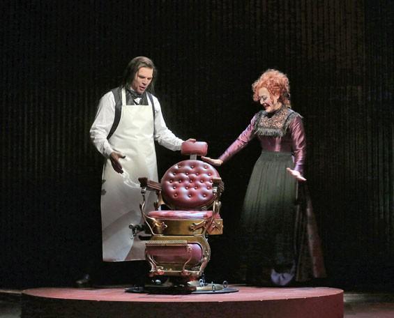 Rod Gilfry and Karen Ziemba in Opera Theatre of Saint Louis's 2012 production of Sweeney Todd.