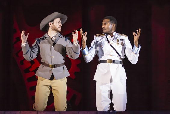 Justin Blanchard and Billy Eugene Jones in a scene from Othello.
