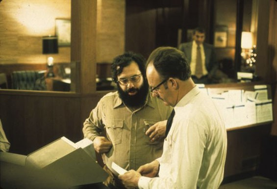 Francis Ford Coppola and Gene Hackman in The Conversation.