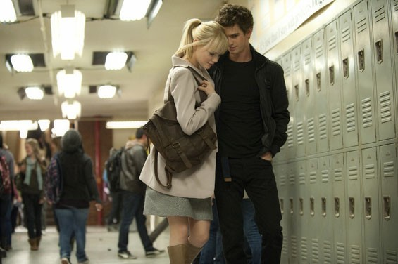Emma Stone and Andrew Garfield star in The Amazing Spider-Man.