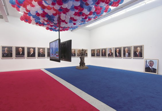Jonathan Horowitz, Your Land/My Land (installation view), 2008. Courtesy the artist and Gavin Brown's enterprise, New York. Photo: Thomas Müller