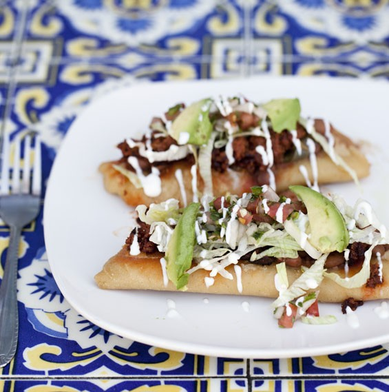 Siete Luminarias. huaraches and tlacoyos come stuffed with meat, chiles and steamed cactus.