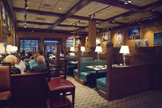 The St. Louis-themed dining room at BlackFinn American Grille. See more photos of BlackFinn Grille here