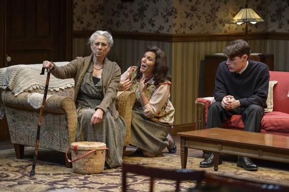 Nancy Lewis, Kelley Weber and Robert Love in Lost in Yonkers.