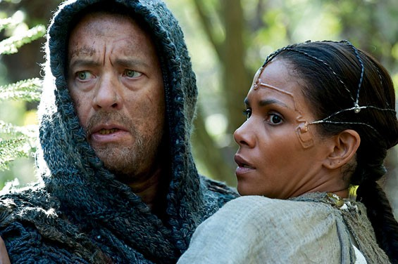Tom Hanks and Halle Berry try to untangle time in Cloud Atlas.