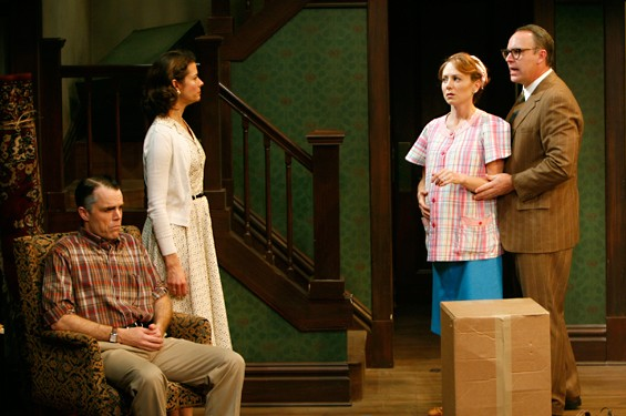 A house in disarray: The Rep's Clybourne Park could use some cleanup in Act Two.