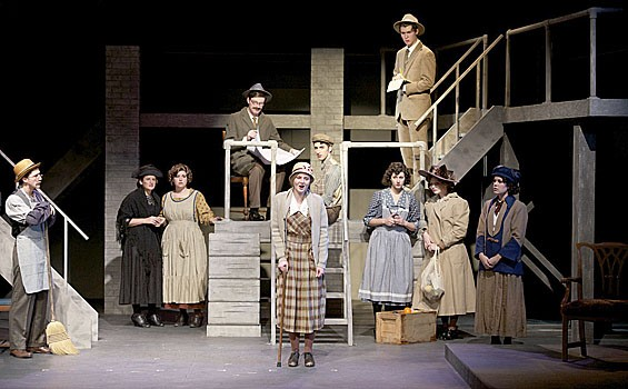 The cast of SLU's Radium Girls.