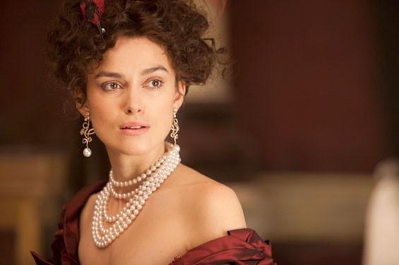 Keira Knightley as Anna Karenina.