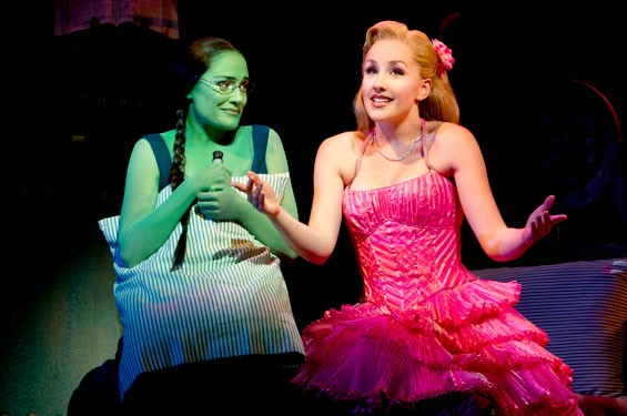 Wicked, awesome: Jeanna de Waal as Glinda and Christine Dwyer as Elphaba.