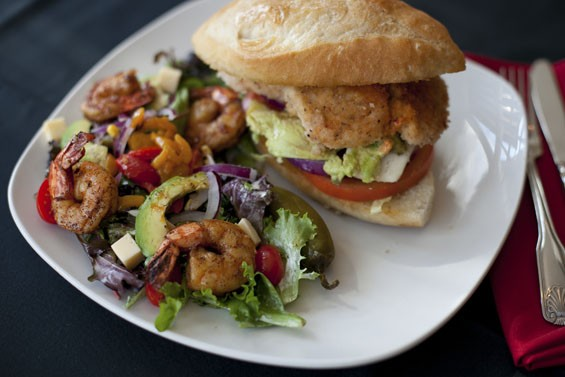 Laredo on Lafayette Square's Chicken Torta with chipotle aioli served with a house salad and shrimp with cilantro dressing. Slideshow: Laredo on Lafayette Square.