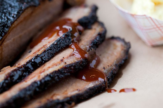 Sugarfire Smoke House cuts its brisket in slices as thick as a Sunday roast. Slideshow: Inside Sugarfire Smoke House