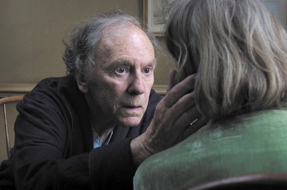 Left to Right: Jean-Louis Trintignant and Emmanuelle Riva in Amour.