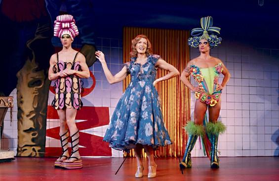 A colorful Priscilla pulls into the Fox Theatre.